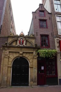 the narrowest house in Amsterdam- as wide as a narrowboat!