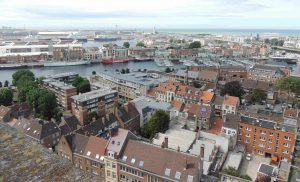 Dunkerque harbour from the belltower